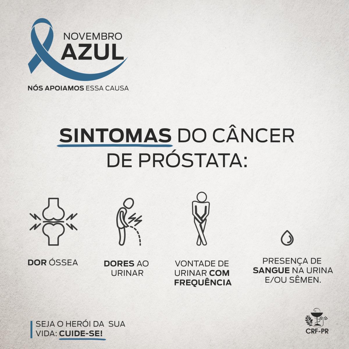 câncer de próstata quais são os sintomas